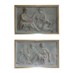 Pair of Continental Grisaille Paintings