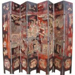 Chinese Eight Panel Coromandel Screen