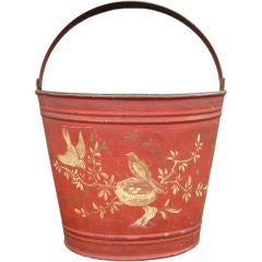 Red Tole Bucket