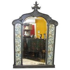 Chinoiserie Ebonized Mirror