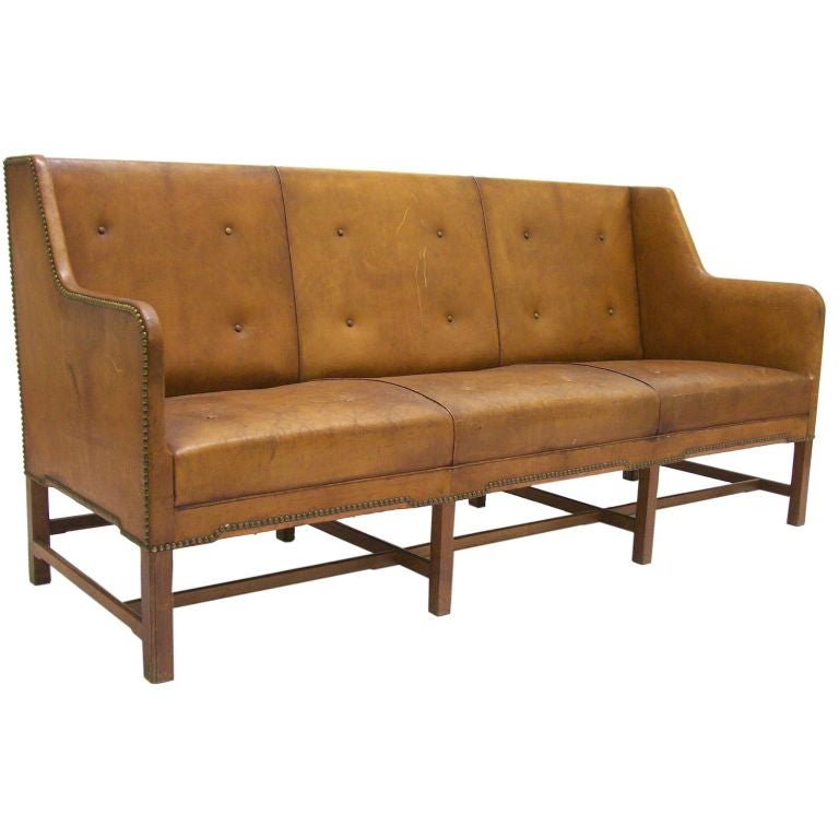 Antique Leather Sofa at 1stdibs