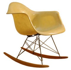 CHARLES AND RAY EAMES RARE FIRST YEAR ROCKING CHAIR