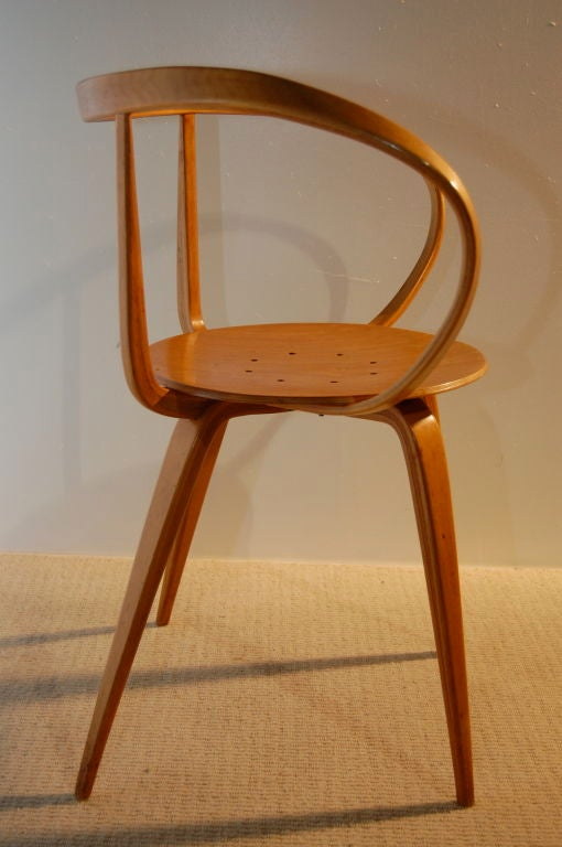 George Nelson Pretzel Chair With Girard Seat Pad At 1stdibs