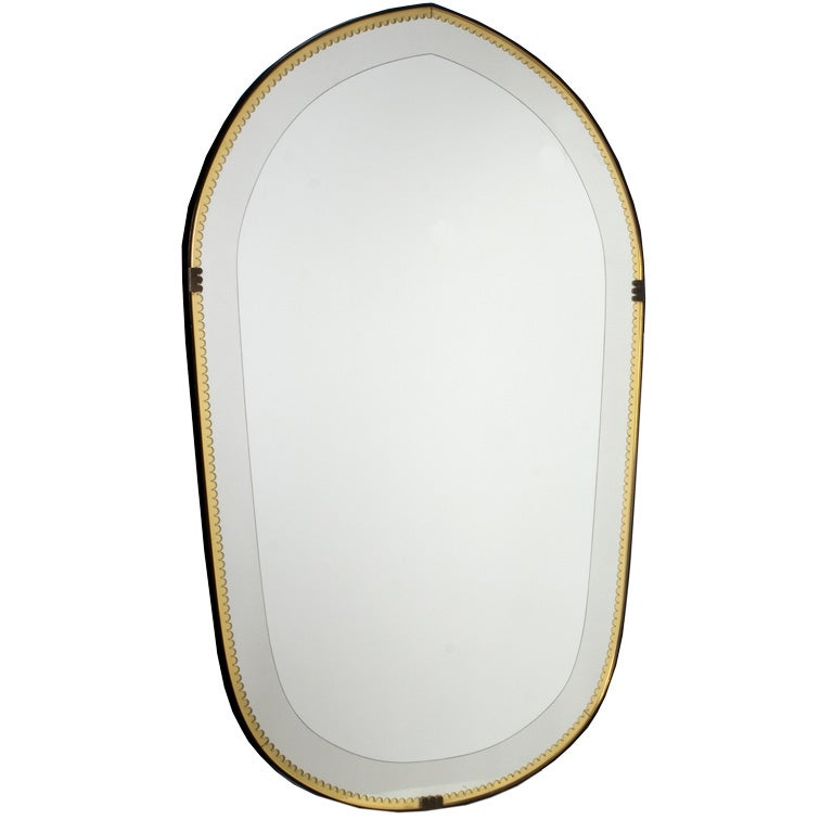 Unusual amber and clear glass mirror at 1stdibs - Unusual large wall mirrors ...