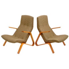 "Pair of Eero Saarinen ""Grasshopper"" Armchairs"