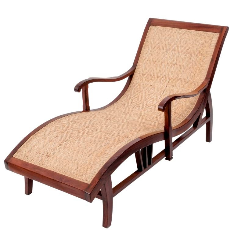 Anglo-Indian Rosewood and Cane Daybed 1 - Anglo-Indian Rosewood And Cane Daybed At 1stdibs