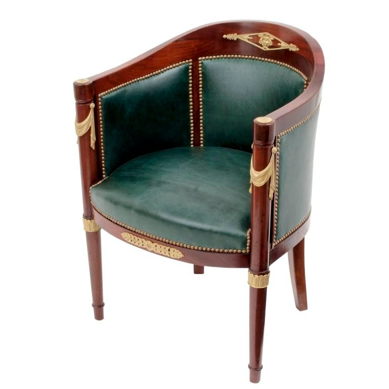 Empire Style Fauteuil de Bureau by Mercier Freres at 1stdibs