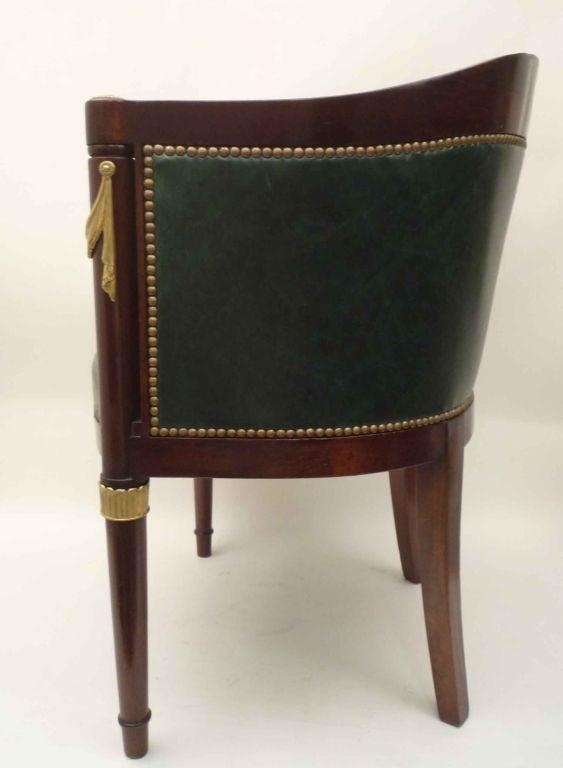 empire style fauteuil de bureau by mercier freres at 1stdibs. Black Bedroom Furniture Sets. Home Design Ideas