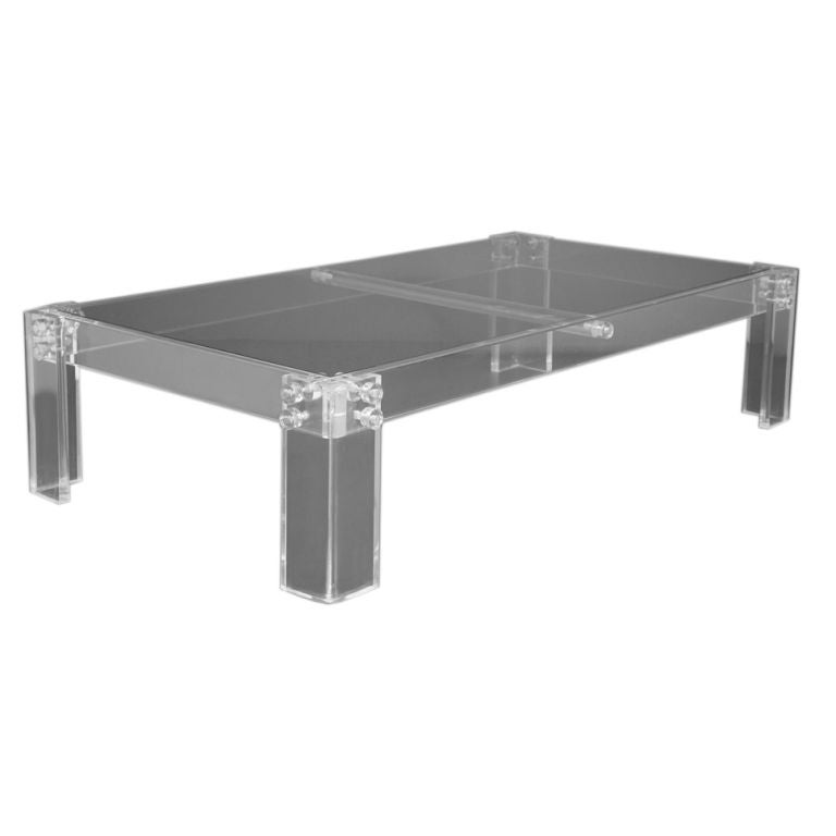 A Rectangular Lucite Coffee Table At 1stdibs