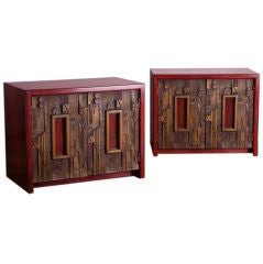 Pair of Side Cabinets Designed by Lane, Altavista USA, 1950s