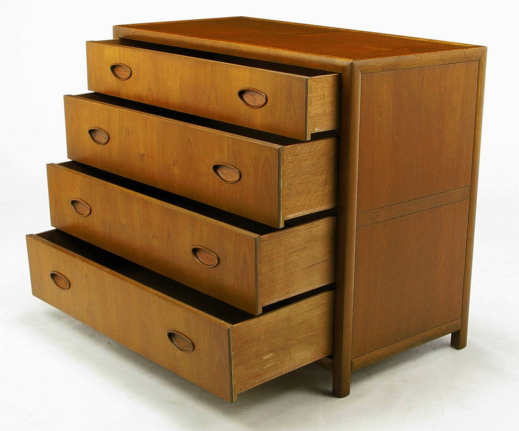 Pair  Michael Taylor New World Walnut Commodes By Baker For Sale 3