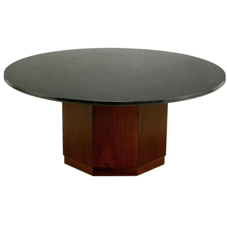 Fred kemp walnut base and slate top coffee table at 1stdibs Slate top coffee tables
