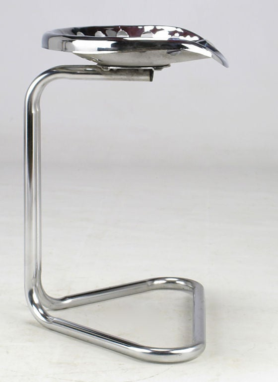 Cantilevered Chrome Tractor Seat Stool At 1stdibs