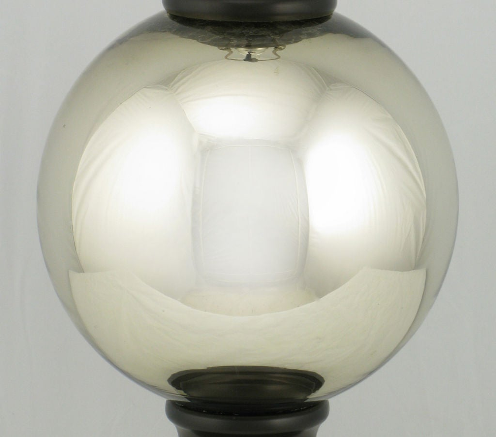 Pair Spherical Mercury Glass Table Lamps For Sale At 1stdibs