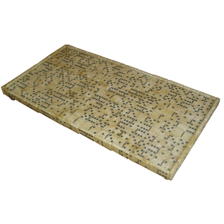 Domino Encrusted Tray For Sale