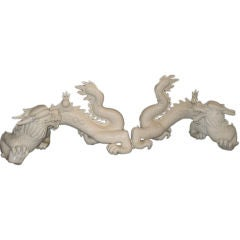Pair of Chinese Blanc de Chine Dragons