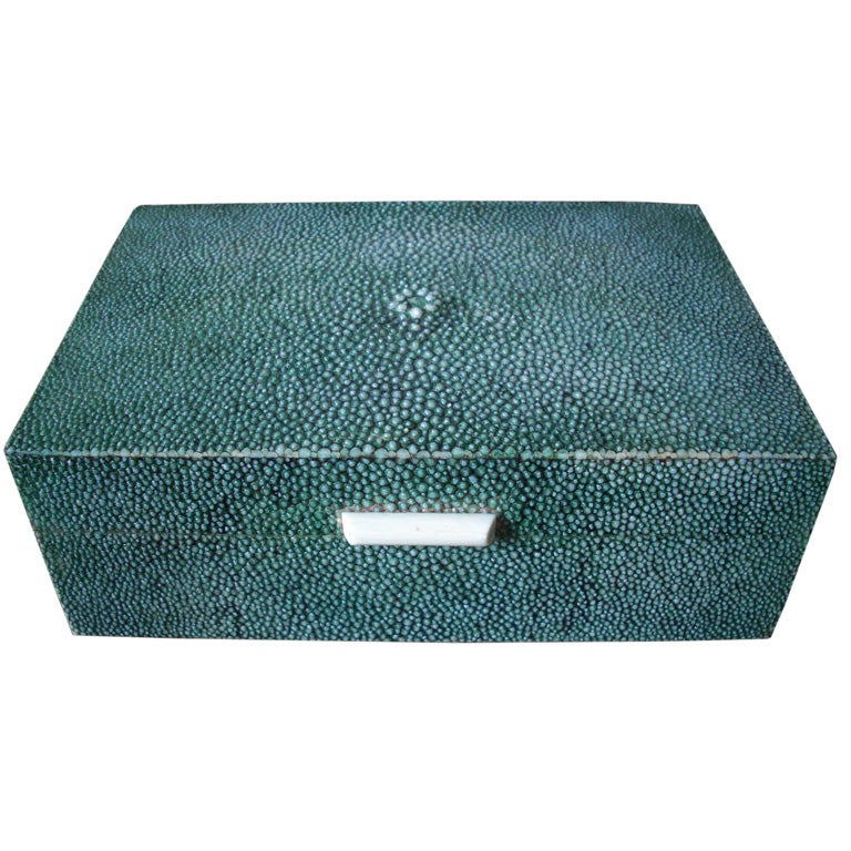 Vintage English Shagreen Box At 1stdibs