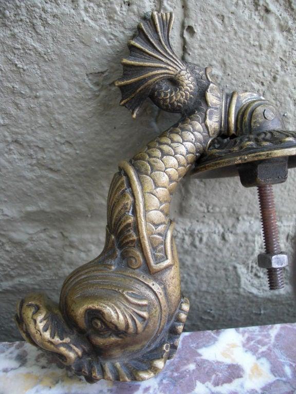Antique bronze dolphin door knocker at 1stdibs - Dolphin door knocker ...