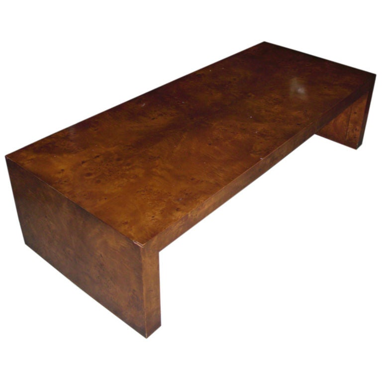 Vintage Burled Wood Coffee Table At 1stdibs