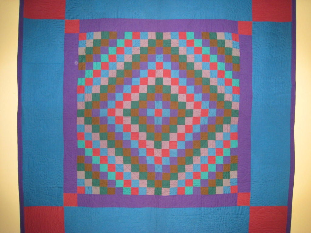 """American Amish Quilt.:   """"Sunshine and Shadow"""" For Sale"""