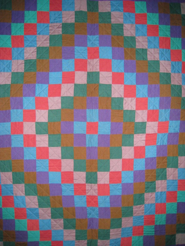 """20th Century Amish Quilt.:   """"Sunshine and Shadow"""" For Sale"""