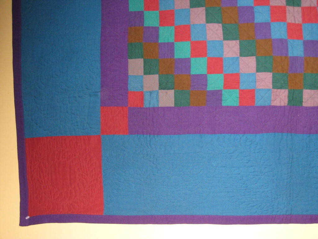 """Amish Quilt.:   """"Sunshine and Shadow"""" For Sale 1"""