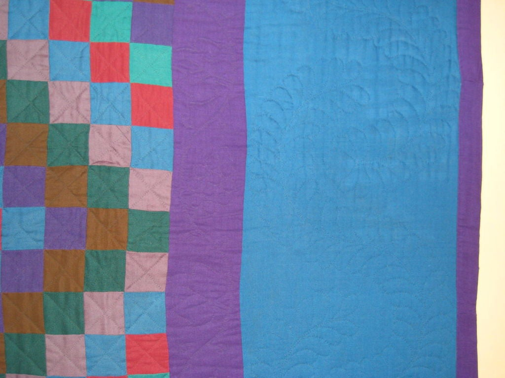 """Amish Quilt.:   """"Sunshine and Shadow"""" For Sale 2"""