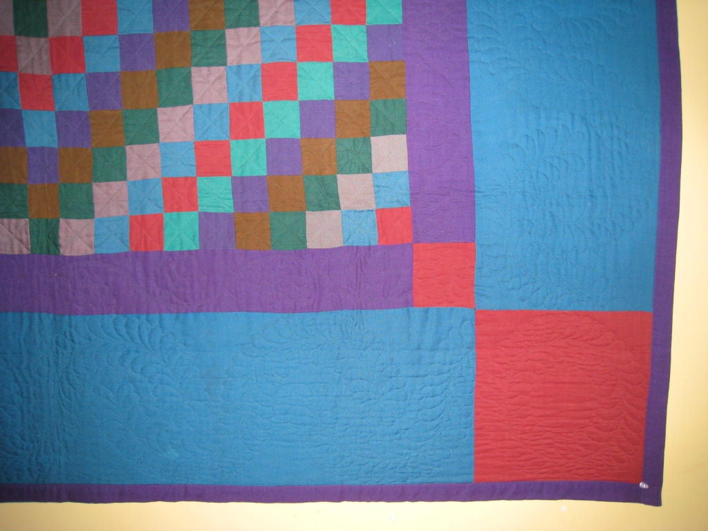 """Amish Quilt.:   """"Sunshine and Shadow"""" For Sale 4"""