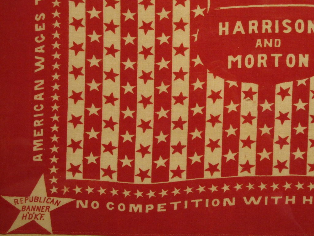 Cotton Campaign Bandanna.  Harrison and Morton. For Sale