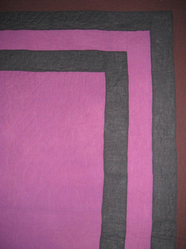 20th Century Amish Quilt:  Center Square For Sale