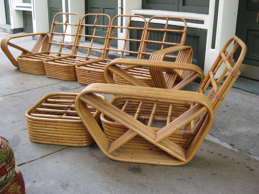 Paul Frankl 6 Banded 8 Piece Living Room Set For Sale 5
