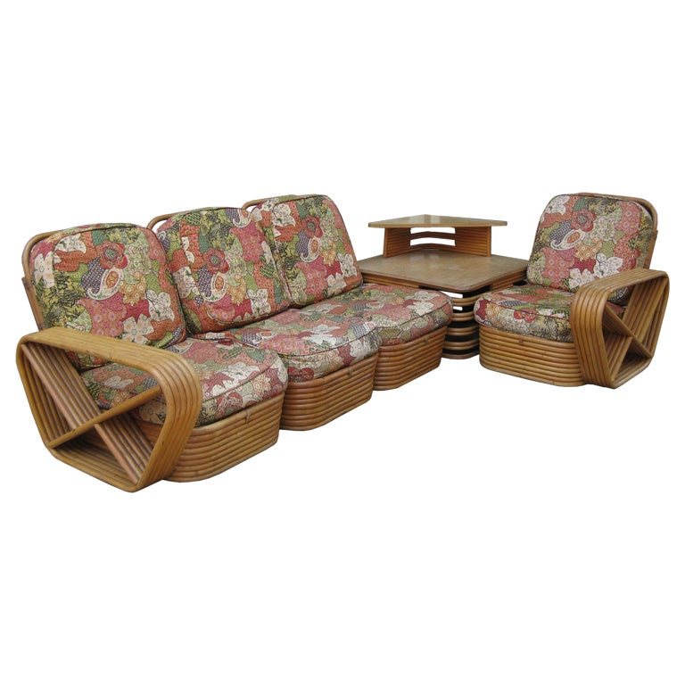 Paul frankl 6 banded 8 piece living room set at 1stdibs for 6 piece living room furniture sets