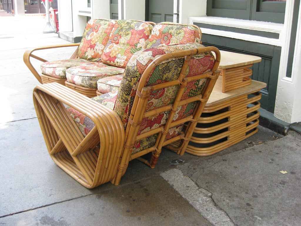 Paul Frankl 6 Banded 8 Piece Living Room Set For Sale 3