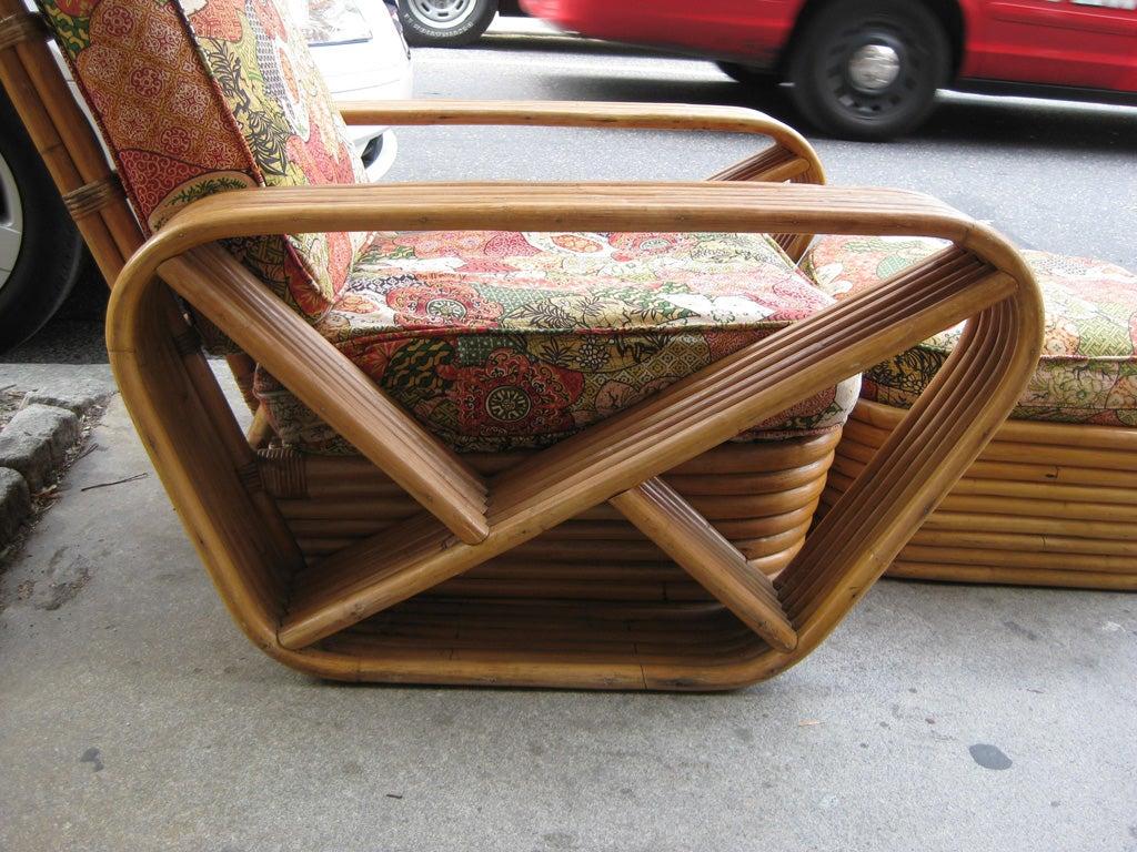 Paul Frankl 6 Banded 8 Piece Living Room Set For Sale 2