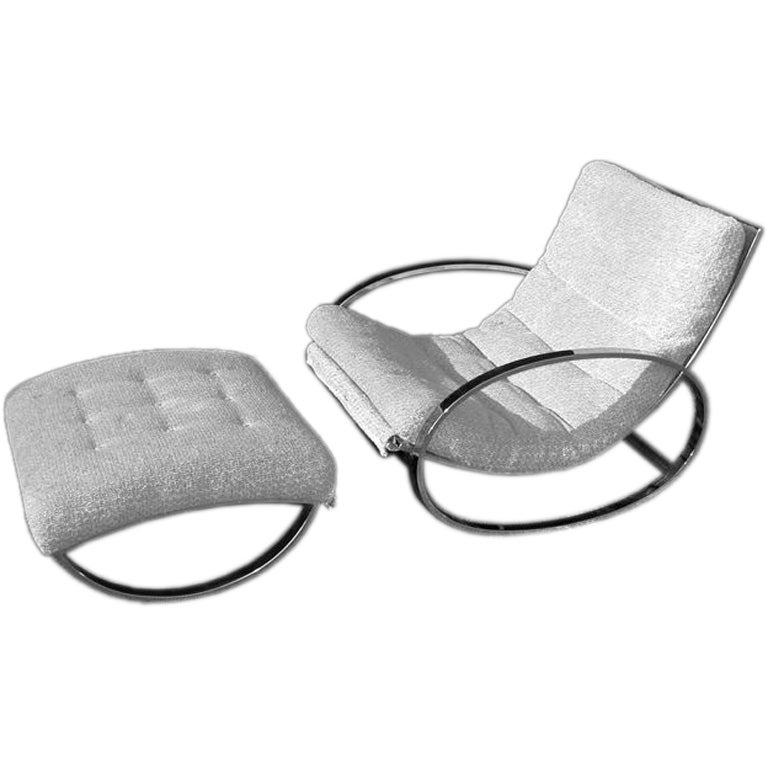 Italian Lounge Chair and ottoman at 1stdibs