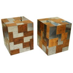 Paul Evans Cube Side Tables