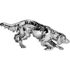 Silver plate Hunting Dog