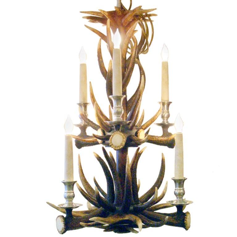 deer antler hall chandelier at 1stdibs