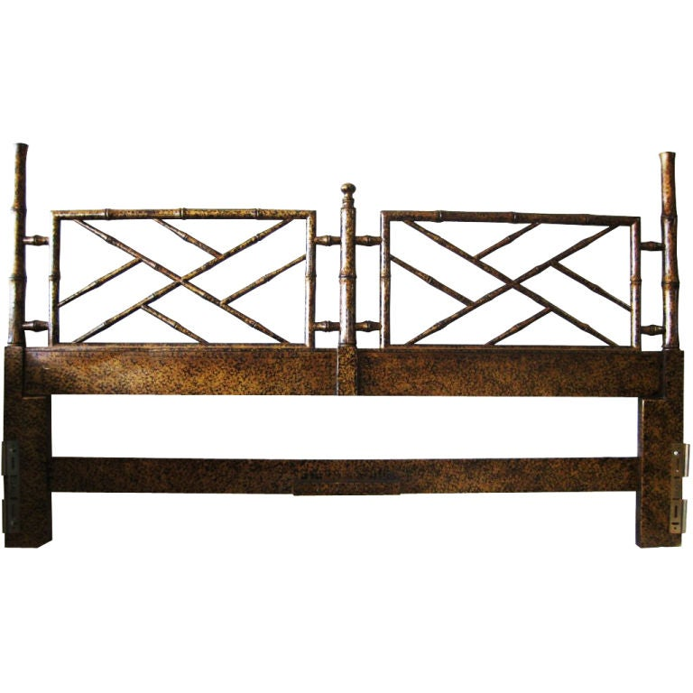Chinese Chippendale Bed : Chinese Chippendale Style King Headboard, Faux Bamboo at 1stdibs