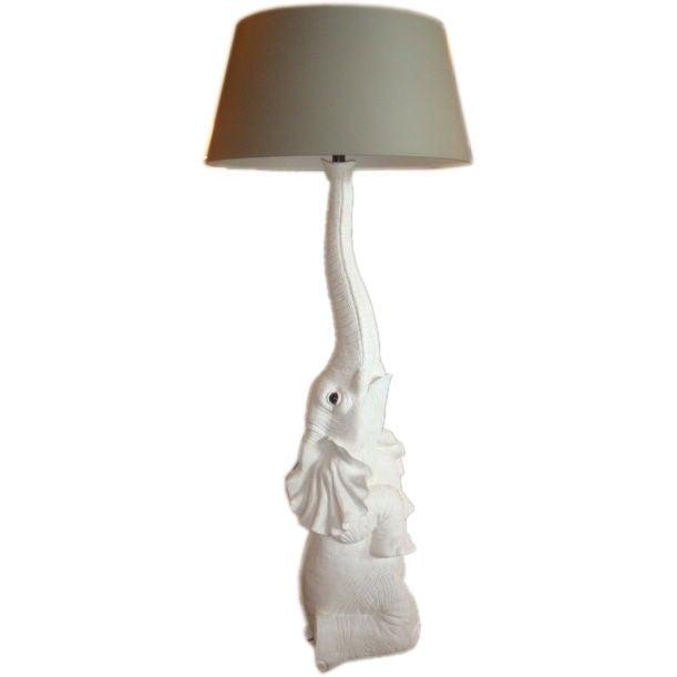Vintage White Elephant Floor Lamp At 1stdibs
