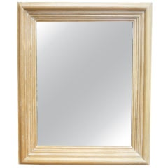 Large Cerused Oak Mirror