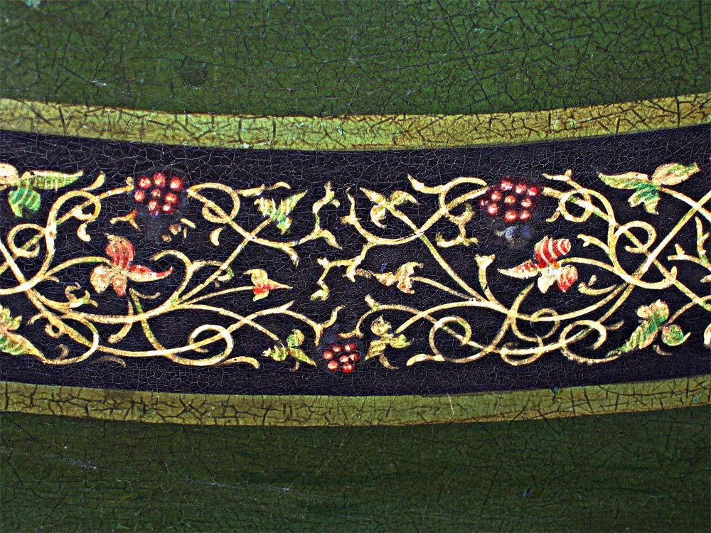 19th Century Signed B. Walton & Co. Papier-Mâché Tray on Tilting Stand, c1840 For Sale