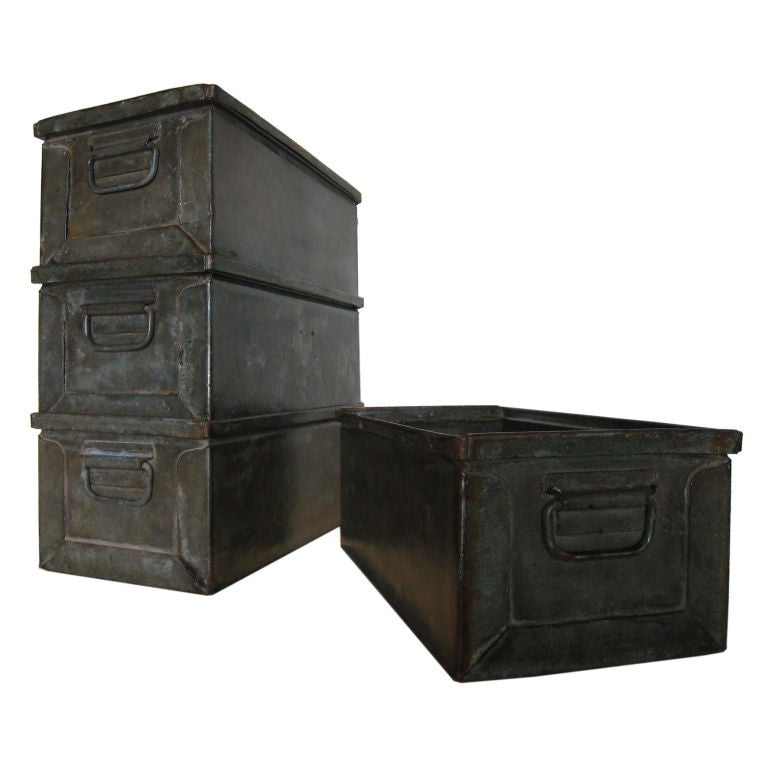 Industrial Stacking Containers : Industrial stacking bins at stdibs