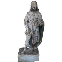 Antique 18th Century Statue of St. Roch from a Chapel Near Arles, France