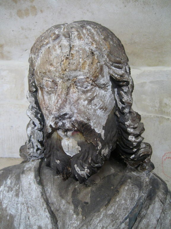Antique 18th Century Statue of St. Roch from a Chapel Near Arles, France 3