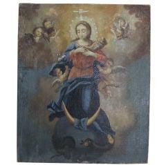 Italian Painting of Virgin Mary, c. 1800