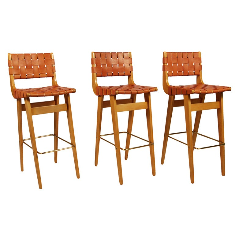 Set Of Three Barstools By Henry Kann At 1stdibs