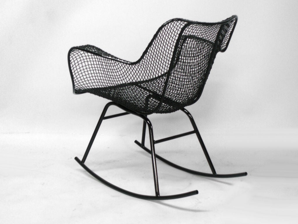 Wrought Iron And Mesh Rocker By Russell Lee Woodard Co. At 1stdibs. Full resolution  pic, nominally Width 1024 Height 768 pixels, pic with #696265.