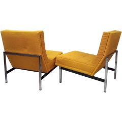 Parallel Bar Lounge Chairs by Florence Knoll