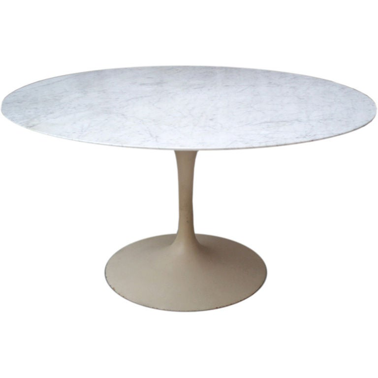 A Tulip Base Marble Top Dining Table By Eero Saarinen At